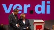 verd.di Bundeskongress 2011 Monika Brandl und Frank Bsirske