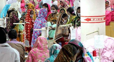 """In der Textilfabrik """"One Composite Mills"""" in Gazipur, einem Vorort der Hauptstadt Dhaka in Bangladesch"""
