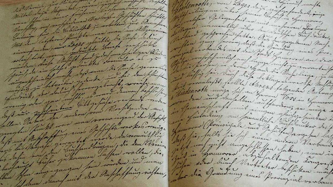 Die ältesten Aufzeichnungen der Gewerkschaft: Protokollbuch der Hildesheimer Buchdrucker von 1863