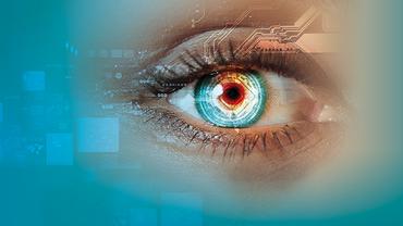 Eine Auge im digitalen Umfeld