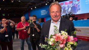 Der ver.di-Vorsitzende Frank Bsirske steht seit der ver.di-Gründung im Jahr 2001 an der Spitze der Organisation.