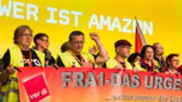 Amazon-Beschäftigte auf dem ver.di-Bundeskongress 2015