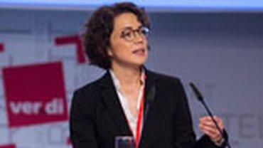 Dr. Kira Marrs, ISF München, sprach zu Digitalisierung 4.0 auf dem 4. ver.di Bundeskongress.