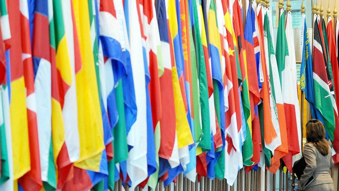 Abbildung internationale Flaggen