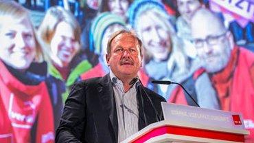 Frank Bsirske am Rednerpult