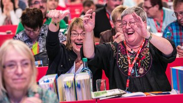 Gute Stimmung beim 4. ver.di-Bundeskongress