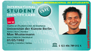 Internationaler Studierenden-Ausweis ISIC
