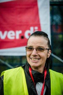 Fluggastkontrolleurin Karin Jenek