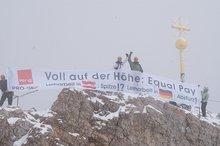 Aktion Leiharbeit auf der Zugspitze ver.di