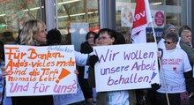 Schlecker-Beschäftigte demonstrieren in Berlin