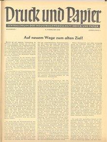 Druck und Papier 1/1949