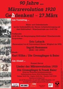 Flugblatt zum Jahrestag März-Revolution 2010