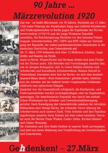 Flugblatt zum 90. Jahrestag März-Revolution 2010