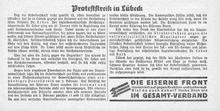"""""""Gewerkschaft"""" vom 11. Februar 1933"""