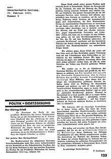 """""""Gewerkschafts-Zeitung"""", Organ des Allgemeinen Deutschen Gewerkschaftsbundes , vom 25. Februar"""