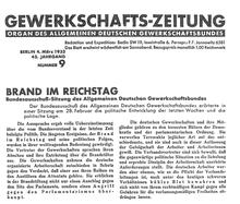 """""""Gewerkschafts-Zeitung"""" vom 4. März 1933"""