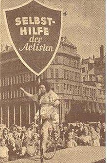 Künstlerinnen und Künstler werben für ihre Gewerkschaft (Aktion der IAL 1948 in Hamburg)