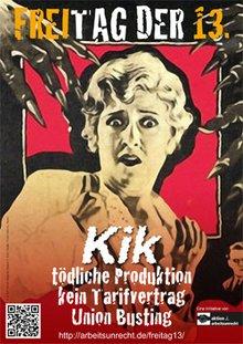 Protestplakat gegen KiK