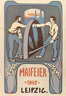 Plakat zum 1. Mai 1907