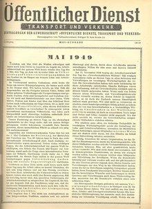 Die erste Ausgabe des Zentralorgans, Mai 1949