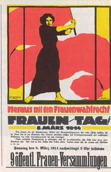 Plakatmotiv Frauentag 1914