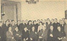 Gewerkschaftsbeirat der HBV auf der Sitzung am 1. und 2. November 1950 in Königswinter; 1. Reihe in der Mitte Wilhelm Pawlik, links neben ihm Wilhelm Hensel