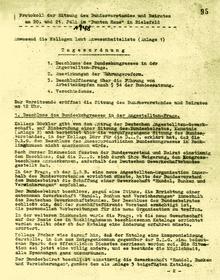 Beschluss des DGB (BBZ) zur Gründung der HBV; Protokoll der Sitzung des Bundesvorstands des DGB (BBZ) vom 20./21. Juli 1948