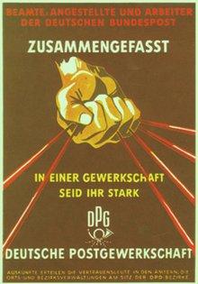 Plakat der DPG von 1950