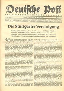 """""""Deutsche Post"""" vom Juli 1949"""