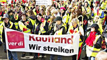 Streikende bei Kaufland