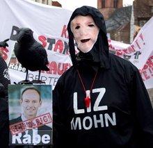 Protest bei Prinovis in Itzehoe