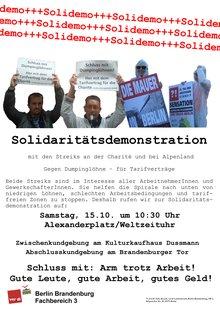 Aufruf Soli-Demo für CFM-Beschäftigte