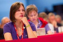 Weibliche Delegierte