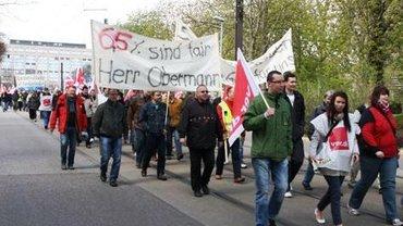 Tarifrunde Telekom 2012. Streik in Magdeburg