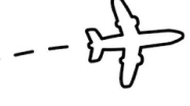 Zeichnung eines Flugzeugs