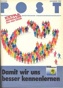 Deutsche Post Extra-Ausgabe für die DDR September 1990