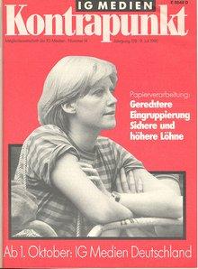 IG Medien Kontrapunkt 9. Juli 1990