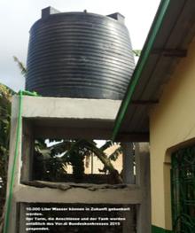 Wasserturm für Shanzu/Kenia
