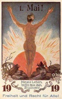 Postkarte zum 1. Mai 1919