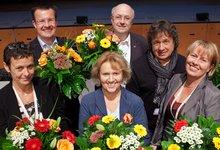 Vorsitzende Monika Brandl, Simona König, Timo Heider, Werner Filipowski, Herbert Beck und Andrea Pohl