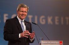 Christian Wulff spricht zu den Kongressdelegierten
