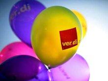 Luftballons mit ver.di drauf