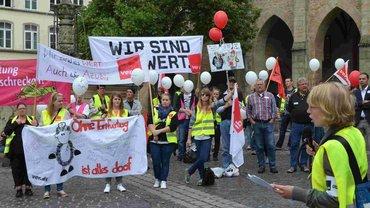 Streikende der Ameos-Kliniken
