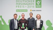 Die Gesamt-JAV der Landeshauptstadt Dresden freute sich über den Sonderpreis der HUK-Coburg