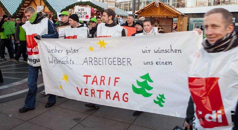 Streik bei der PIN AG in Berlin