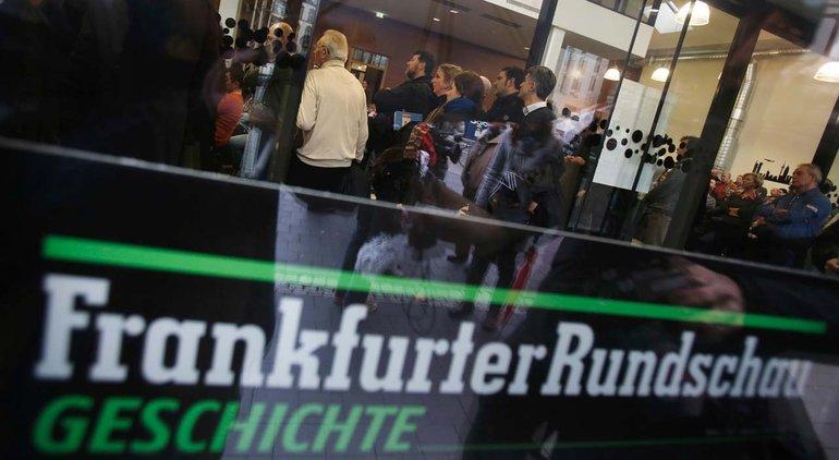 Das Ende: Über 400 Beschäftigte müssen gehen bei der Frankfurter Rundschau