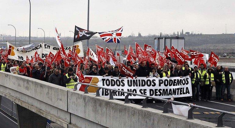 Streikende in Spanien – bald soll das strafbar sein, wenn es nach der spanischen Regierung geht