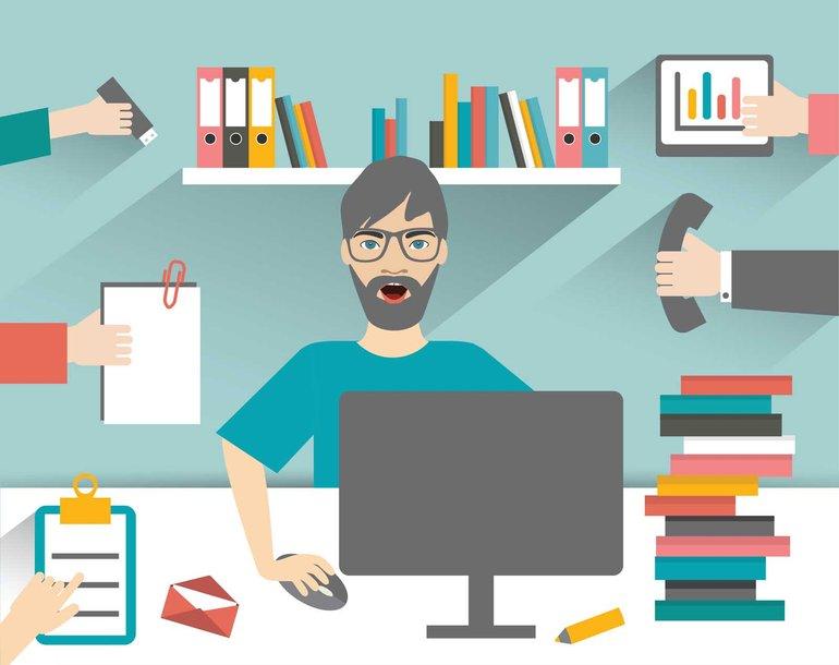 Multitasking – immer mehr Aufgaben gleichzeitig, da hilft auch die Digitalisierung nicht, wenn die Arbeitsbedingungen nicht im Zuge neuer Techniken mit verbessert werden, sondern immer mehr obendrauf gepackt wird.