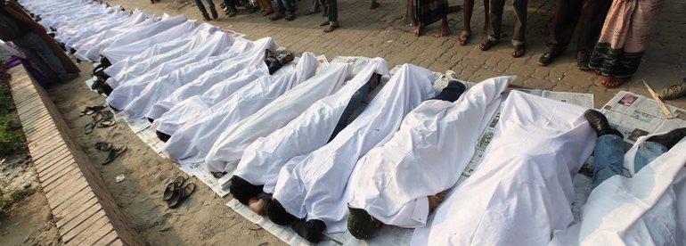 Protestaktion in Bangladesh