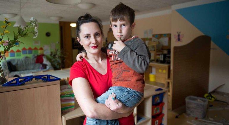 Ina Müller ist Elternbeiratsvorsitzende und Organisatorin der Kinderbetreuung durch Eltern in Stuttgart